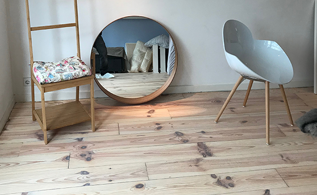 Vloer renovatie houten grenen planken amsterdam rembrandpark
